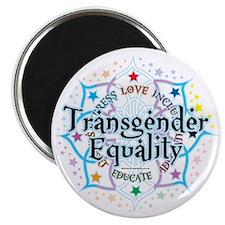 Transgender-Equality-Lotus Magnet