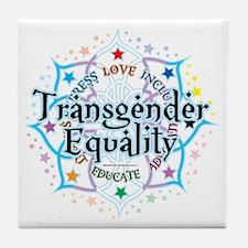 Transgender-Equality-Lotus Tile Coaster