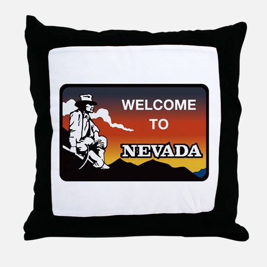 Welcome to Nevada - USA Throw Pillow