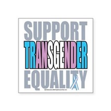 "Support-Transgender-Equalit Square Sticker 3"" x 3"""