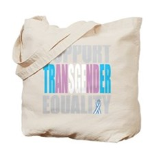 Support-Transgender-Equality-blk Tote Bag