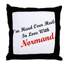In Love with Normand Throw Pillow