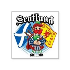 "Scotland-Flags-and-Piper Square Sticker 3"" x 3"""