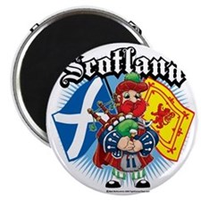 Scotland-Flags-and-Piper Magnet