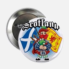 """Scotland-Flags-and-Piper 2.25"""" Button"""