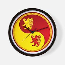 Scotland-Ying-Yang-red Wall Clock