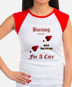Burning For A Cure_REDa Women's Cap Sleeve T-Shirt