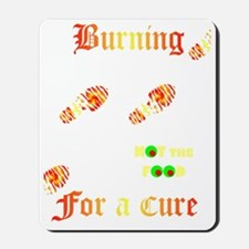 Burning4ACure_BlackApron_CP Mousepad