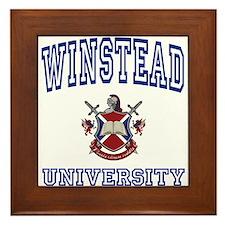 WINSTEAD University Framed Tile
