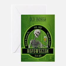 Beer_label_Skeleton Greeting Card