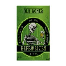Beer_label_Skeleton Bumper Stickers