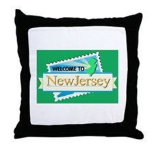 Welcome to New Jersey - USA Throw Pillow