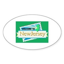 Welcome to New Jersey - USA Oval Decal