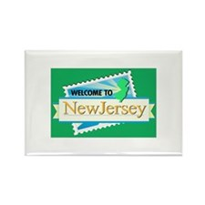 Welcome to New Jersey - USA Rectangle Magnet
