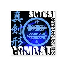 "Shinken Gata Back Square Sticker 3"" x 3"""