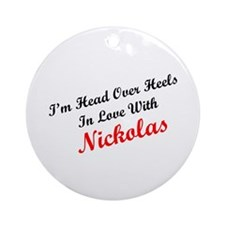 In Love with Nickolas Ornament (Round)
