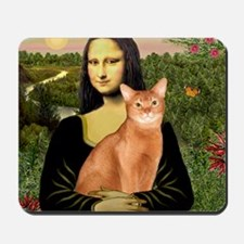 T-Mona Lisa - Abyssinian (red) Mousepad