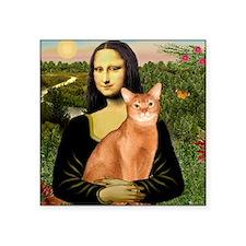 "T-Mona Lisa - Abyssinian (r Square Sticker 3"" x 3"""