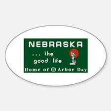 Welcome to Nebraska - USA Oval Decal