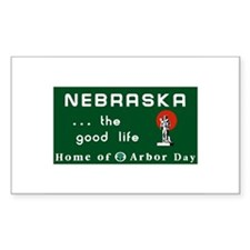 Welcome to Nebraska - USA Rectangle Decal