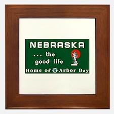 Welcome to Nebraska - USA Framed Tile