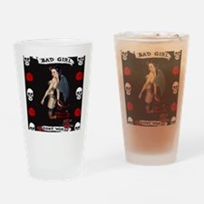 Angel Devil Girl Pin Up Bad Girl Go Drinking Glass