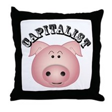 capalist_pig Throw Pillow