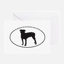 Alapaha-Blue-Blood-Bulldog Greeting Card