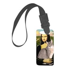 Mona Lisa - Abyssinian (blue 21) Luggage Tag