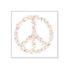 "math and peace Square Sticker 3"" x 3"""