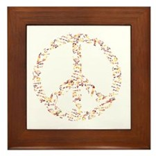 math and peace Framed Tile