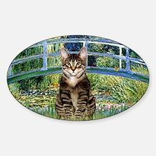 Bridge - Tabby Tiger cat 30 Sticker (Oval)