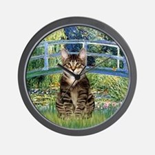 Bridge - Tabby Tiger cat 30 Wall Clock