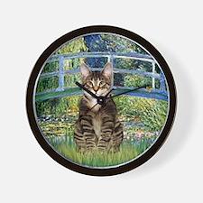 Bridge - Tabby Tiger cat 30 Wall Clock