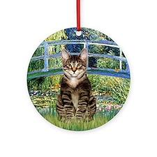 Bridge - Tabby Tiger cat 30 Round Ornament