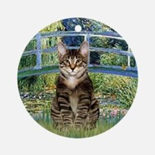 Bridge - Tabby Tiger cat 30 Round Ornament