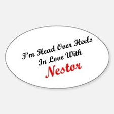 In Love with Nestor Oval Decal