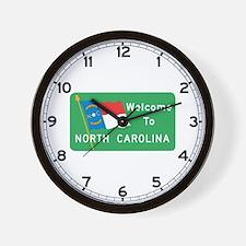Welcome to North Carolina - USA Wall Clock