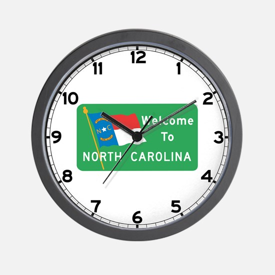 Welcome to North Carolina - USA Wall Clock