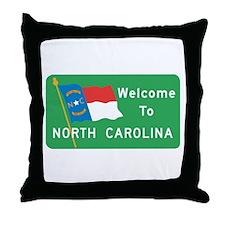 Welcome to North Carolina - USA Throw Pillow