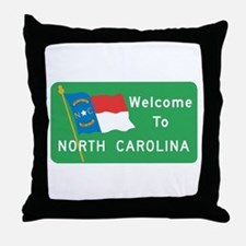 Welcome to North Carolina - USA Throw Pillow