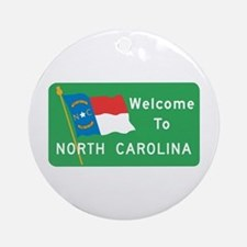 Welcome to North Carolina - USA Ornament (Round)