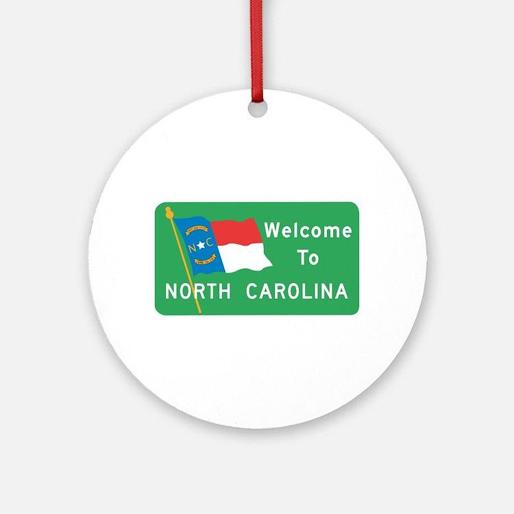 Welcome to North Carolina - USA Ornament (Round)