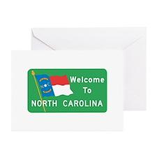 Welcome to North Carolina - USA Greeting Cards (Pa
