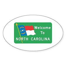 Welcome to North Carolina - USA Oval Decal