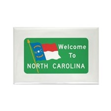 Welcome to North Carolina - USA Rectangle Magnet