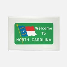 Welcome to North Carolina - USA Rectangle Magnet (