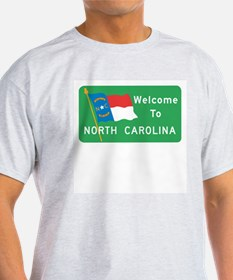 Welcome to North Carolina - USA Ash Grey T-Shirt