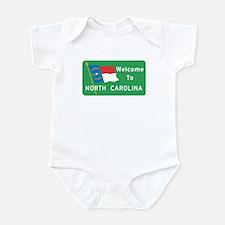 Welcome to North Carolina - USA Infant Bodysuit