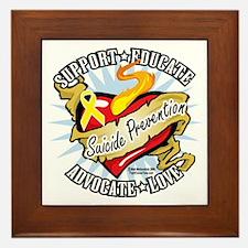 Suicide-Prevention-Classic-Heart Framed Tile